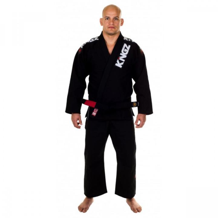 KiNGZ Kimono/Gi BJJ Ultralight Черное