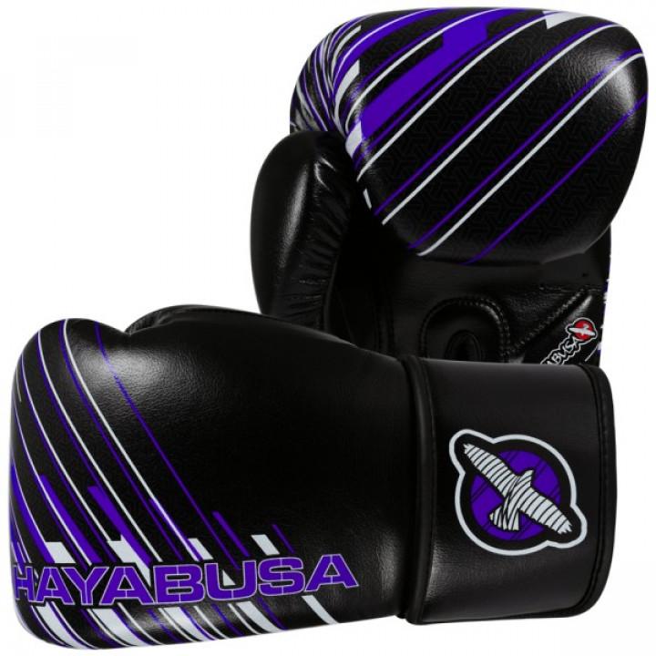Hayabusa Перчатки боксерские Ikusa Charged 10oz Черно/Фиолетовые