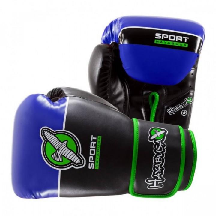 Hayabusa Перчатки боксерские Sport Training 12oz Черно/Синие