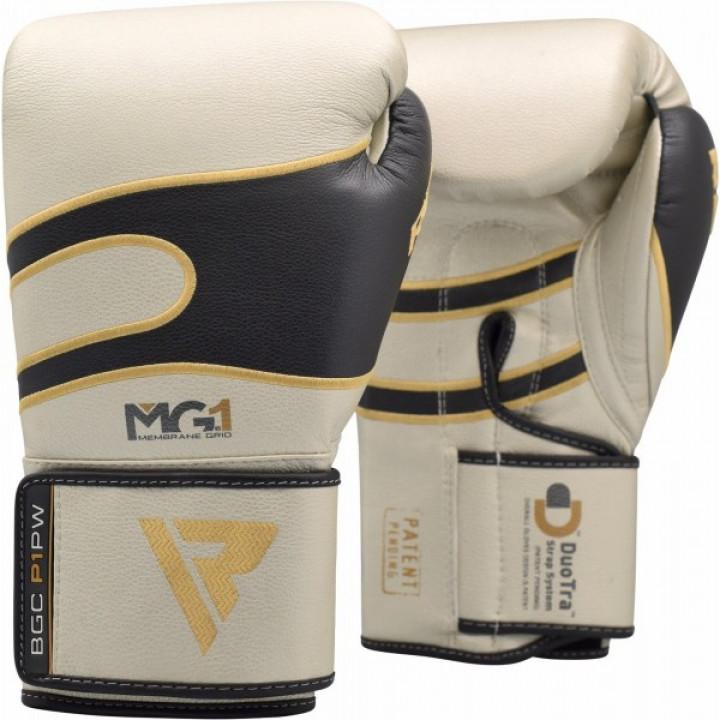 RDX Перчатки боксерские P1 Бело/Черные