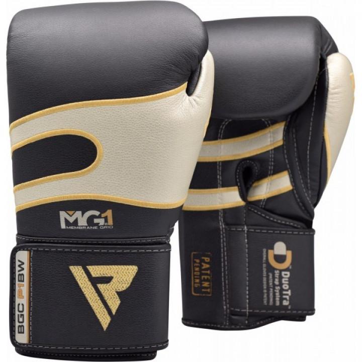 RDX Перчатки боксерские P1 Черно/Белые