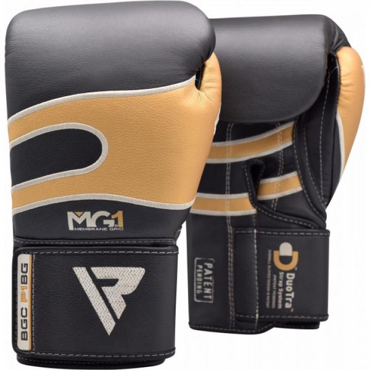Перчатки боксерские RDX P1 черно-золотые