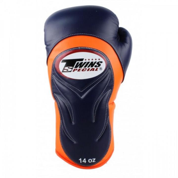 Twins Перчатки боксерские BGVL-6 Темно-Синие/ Оранжевые