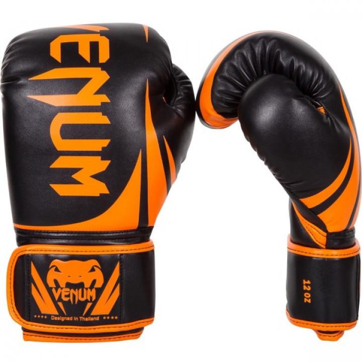 Venum перчатки боксерские Challenger 2.0 Черно/Оранжевые