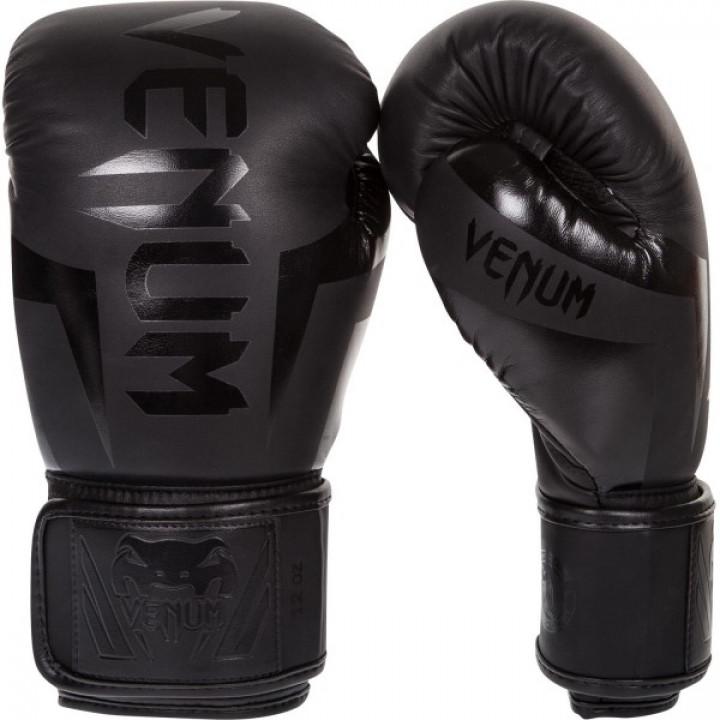 Venum перчатки боксерские Elite Черные