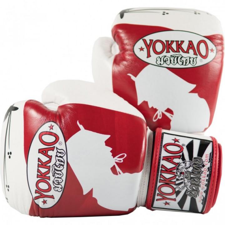 Yokkao Перчатки боксерские Ronin Бело/Красные