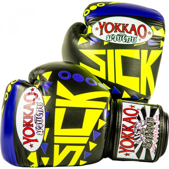 Yokkao Перчатки боксерские Sick Фиолетово/Золотые