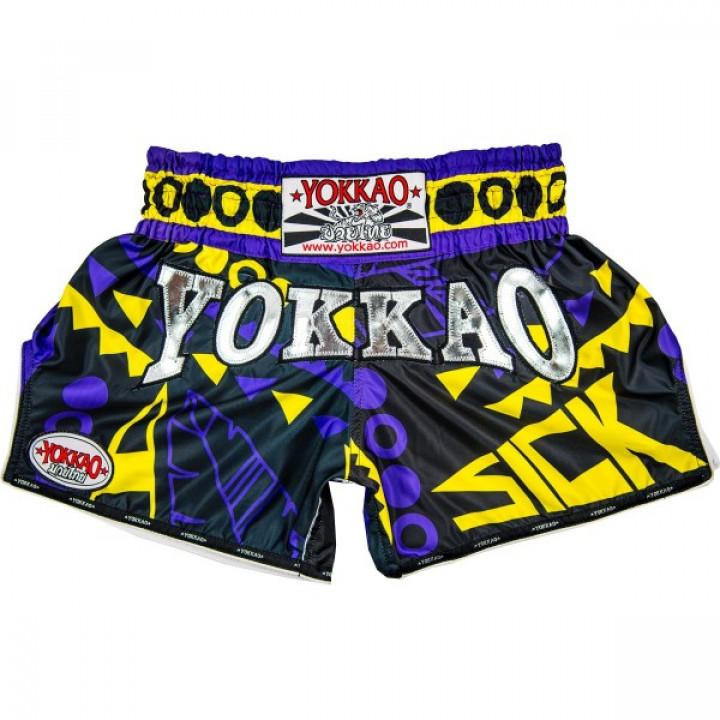 Yokkao Шорты Muay-Thai Sick Фиолетовые/Золотые