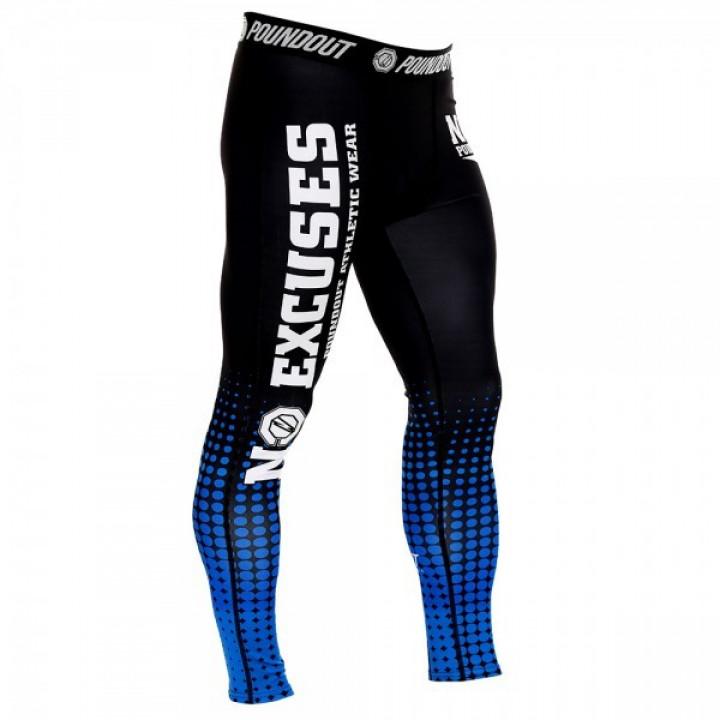 Poundout компрессионные штаны  NoExcuses Черно-Синие