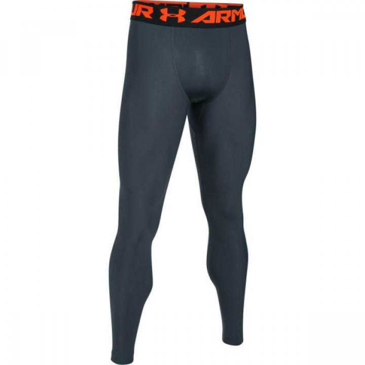 Under Armour Heatgear Armour 2.0 компрессионные штаны Черно-оранжевые
