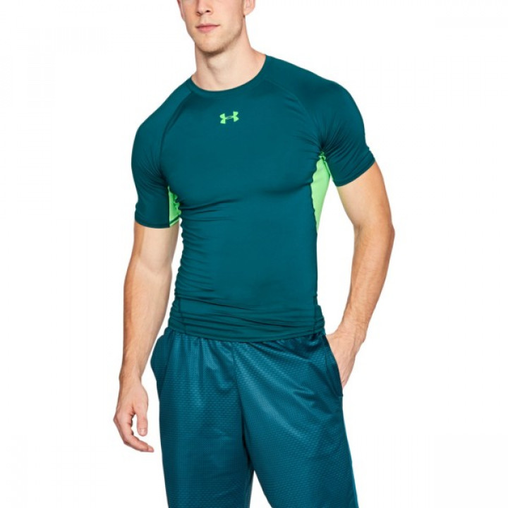 Under Armour HeatGear Armour Shortsleeve Зеленый