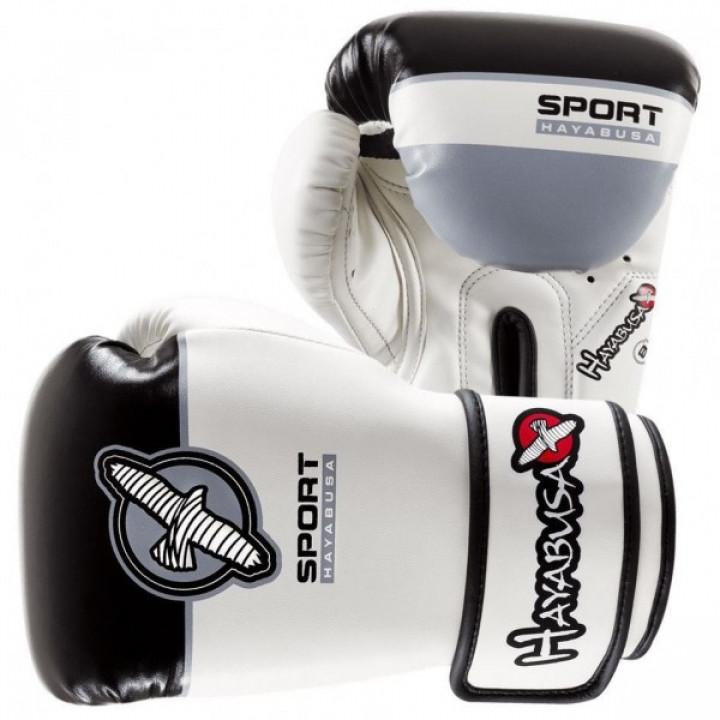 Hayabusa Перчатки боксерские Sport Training 8oz Бело/Черные