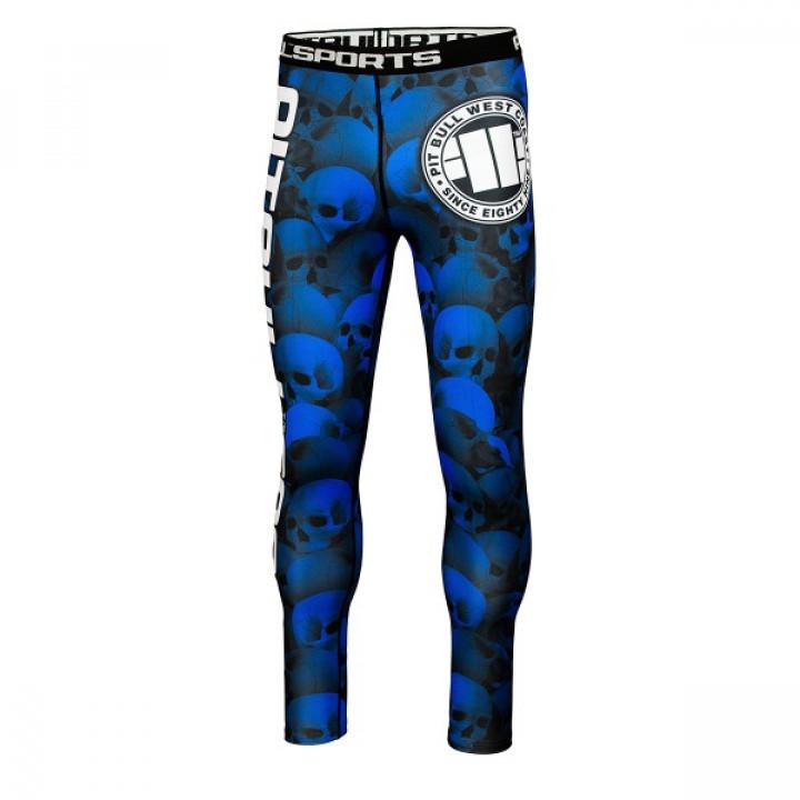 Pit Bull компрессионные штаны  Skull Синие