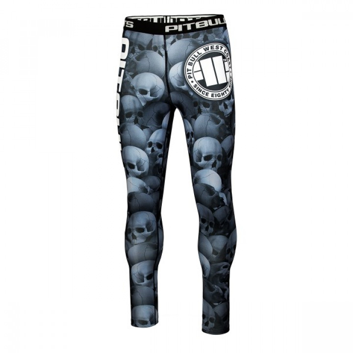Pit Bull компрессионные штаны Skull серые