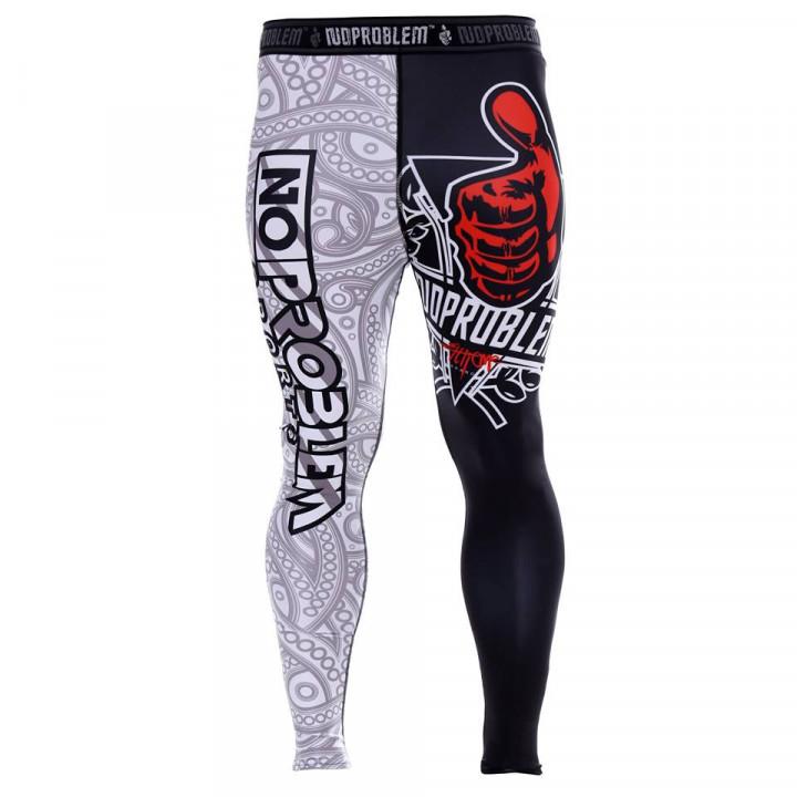 Компрессионные штаны BLACK -WHITE