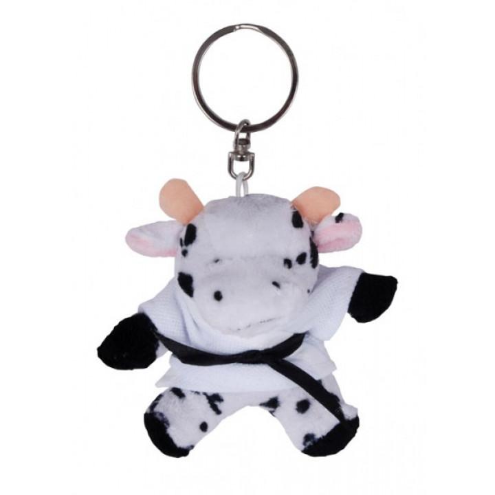Брелок плюшевая корова в кимоно
