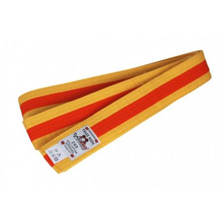 Пояс Judo Двухцветный Danhro 4,5cm  желто-оранжевый