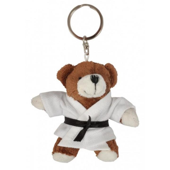 Брелок плюшевый Медведь в кимоно Коричневый