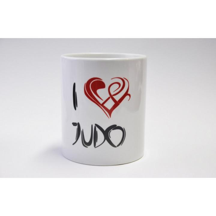 Фарфоровая кружка I-LOVE-JUDO