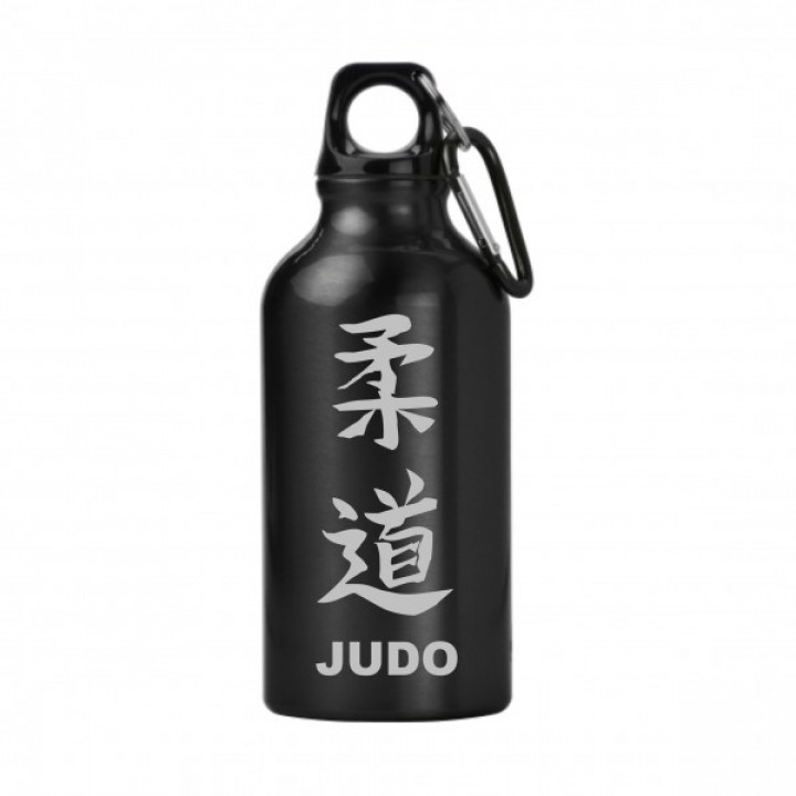 Металлическая бутлка Judo для холодной воды - Чёрная