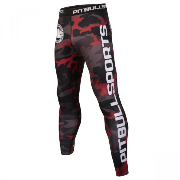 Pit Bull Компрессионные штаны Красный Камуфляж