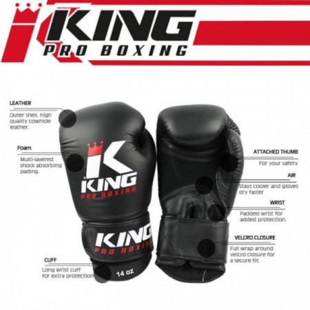 King PRO Перчатки Боксерские BG AIR