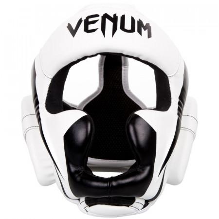 Venum Шлем Боксерский Elite Бело/Черный
