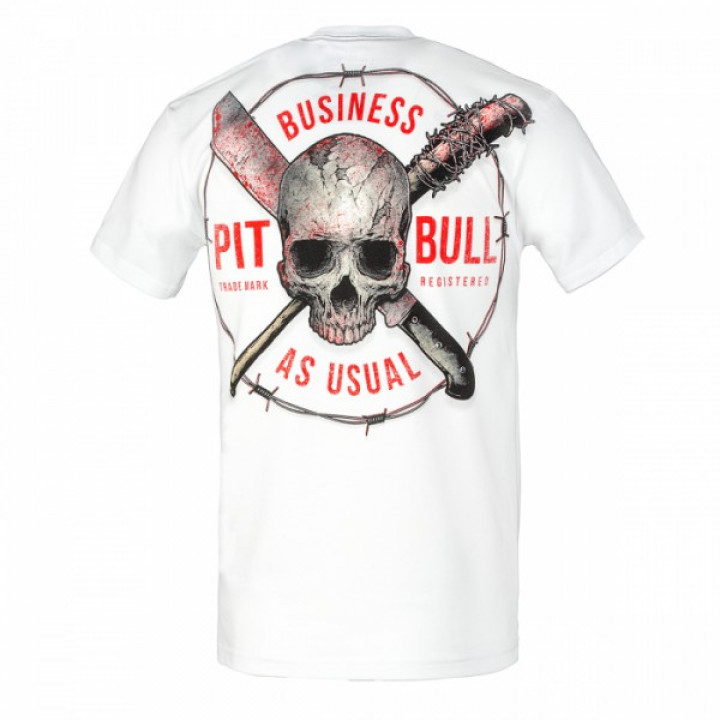 Pitbull T-shirt Business As Usual Белая