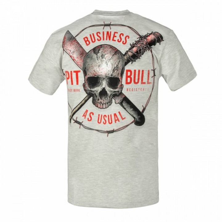 Pitbull T-shirt Business As Usual Серая
