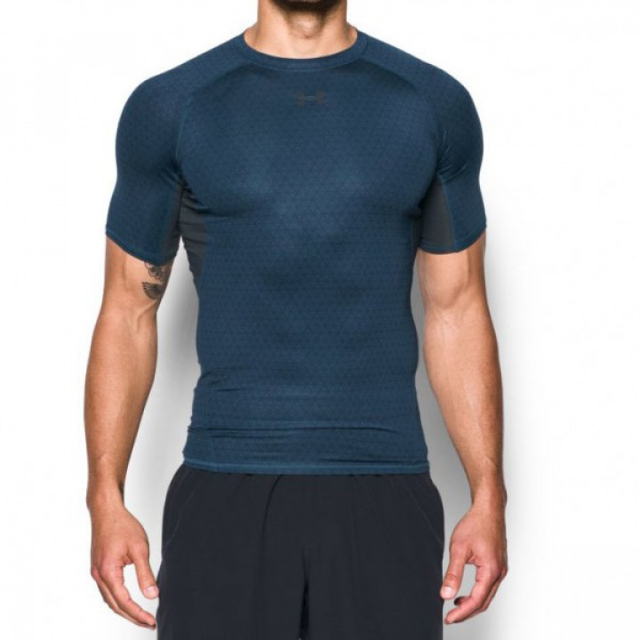 Under Armour HeatGear Armour Shortsleeve Printed Темно Синий 4