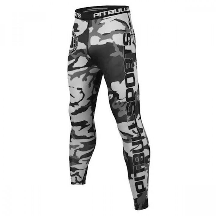 Pit Bull Компрессионные штаны Camo Черный