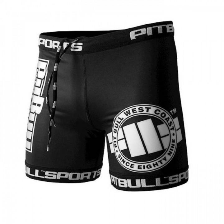 Pit Bull Компрессионные Шорты Classic Logo Черный