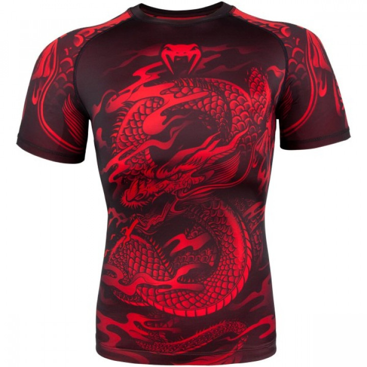 Venum Рашгард Dragons Flight Короткий Рукав Красный