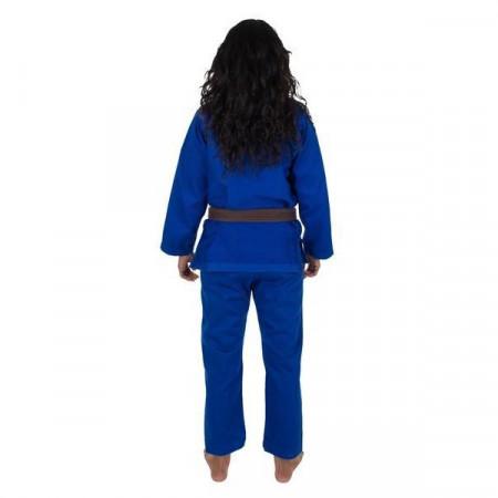 KiNGZ Kimono/Gi BJJ Женское Basic 2.0 Синий(белый пояс в комплекте)