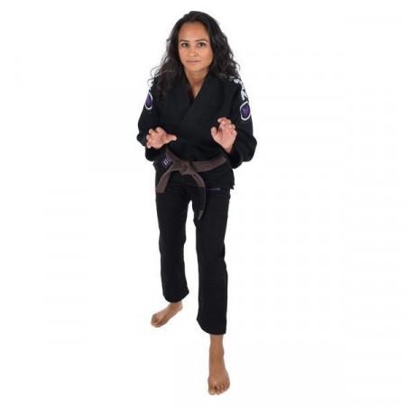 KiNGZ Kimono/Gi BJJ Женское Basic 2.0 Черное (белый пояс в комплекте)