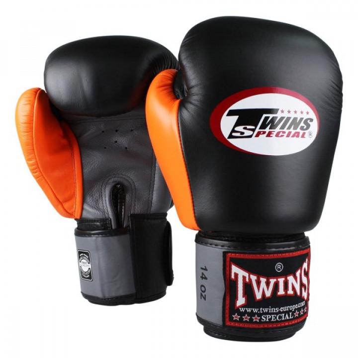 Twins Перчатки Боксерские BGVL-3 Черный/Серый/Оранжевый