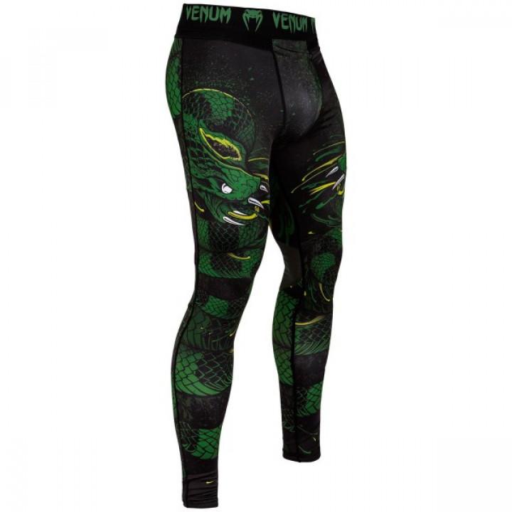Venum Компрессионные штаны Green Viper Черно/Зеленый
