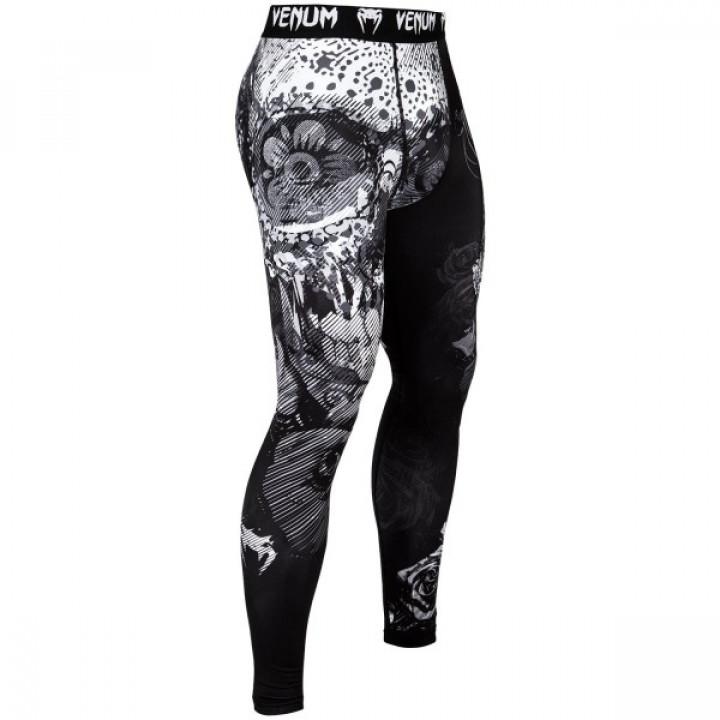 Venum Компрессионные штаны Santa Muerte 3.0 Черный/ Белый