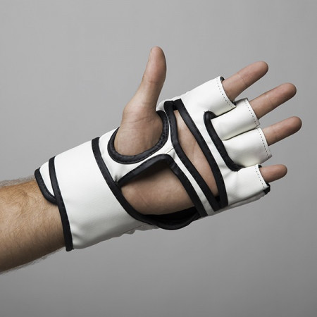 Fight Pro Перчатки для MMA 4oz Basic Белые