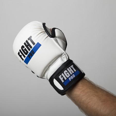 Fight Pro Перчатки для MMA 7oz Basic Белые