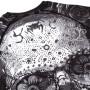 Venum Рашгард Santa Muerte 3.0 Короткий Рукав Черно/Белый