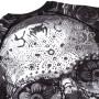 Venum Рашгард Santa Muerte 3.0 Длинный Рукав Черно/Белый