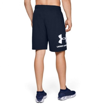 Under Armour Шорты Sportstyle Cotton Graphic Темно синие