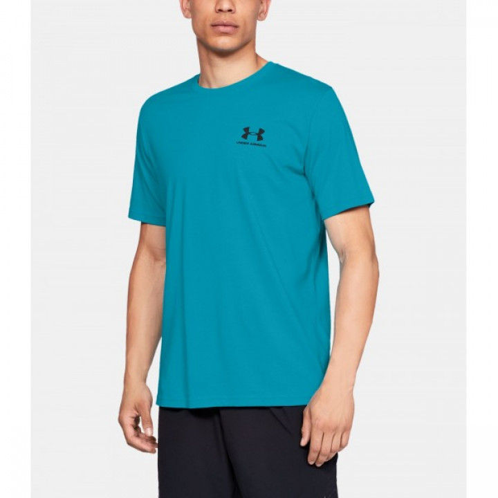 Under Armour Sportstyle Left Chest SS Голубая