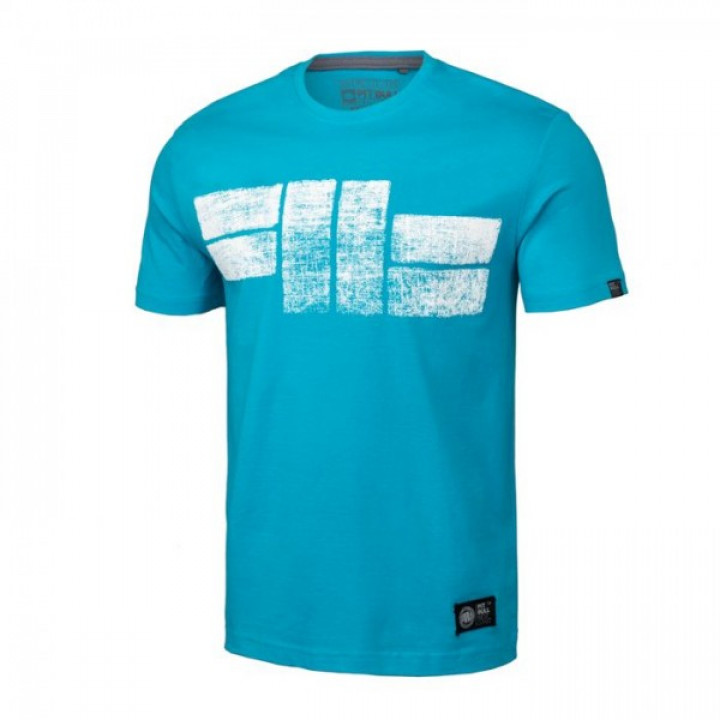 Pitbull T-shirt Classic Logo 19 Голубая