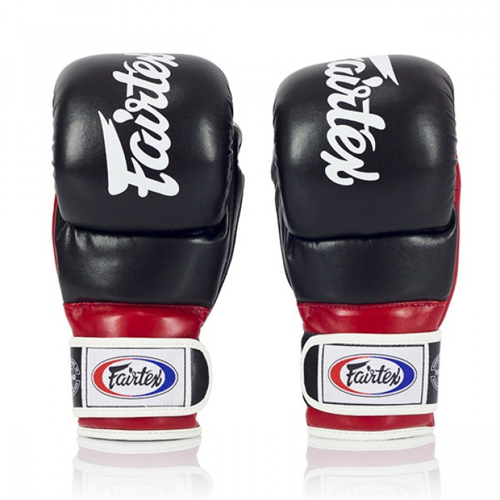 Fairtex Перчатки MMA для спарринга FGV18 Черно/Красные