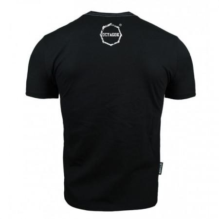 Octagon T-shirt Logo Smash Черная