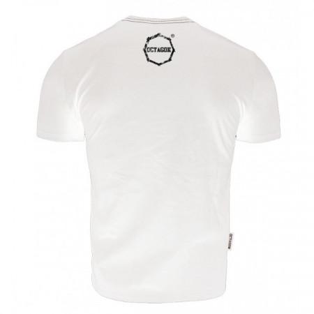 Octagon T-shirt Logo Smash Белая