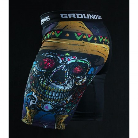 Ground Game Шорты Vale Tudo Mexican Skull