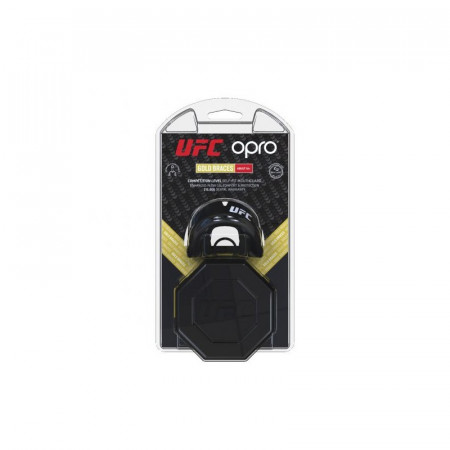 Opro Капа UFC Gold Braces Черная (для брекетов)